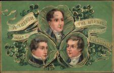 TUCK St. Patrick's Day Wolfetone Fitzgerlad & Emmett c1910 Postcard
