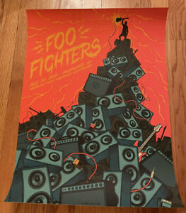 Foo Fighters Concero Poster Milwaukee, WI 7/30/21 2nd Show Of Tour
