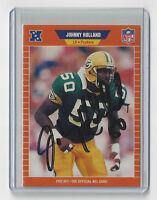 1989 PACKERS Johnny Holland signed card AUTO Pro Set #137 Autographed Green Bay