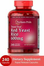 Puritans Pride Red Yeast Rice 600 mg Capsules, 240 Count