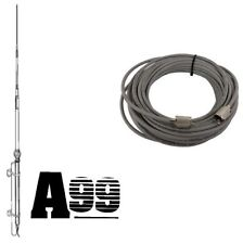 NEW ANTRON 99 CB,HAM BASE ANTENNA & 100 ft DS RG8X COAX CABLE 95% SHIELDED A99