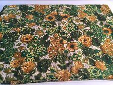 Vintage Green FLoral Pillow Cover Pillowcase Slip Zipper Cotton 20346