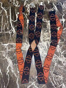 Vintage Harley Davidson Motorcycles Black Orange Suspenders HD