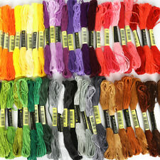 50 STRANDED COTTON EMBROIDERY THREADS - GUARANTEE ALL DIFFERENT COLOURS