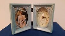 Set of 2' PHOTO FRAME WITH CLOCK ANTIQUE STYLE - For photo 3 x 5 inch Foldable