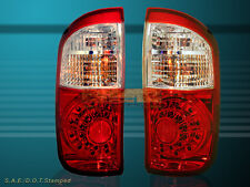 2004 2005 2006 TOYOTA TUNDRA DOUBLE CAB RED CLEAR LED TAIL LIGHTS NEW