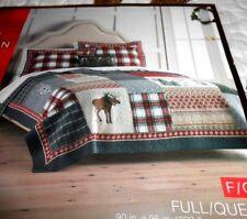 """St Nicholas Square """"Joy"""" Full/Queen Size 1 Quilt & 2 Std Shams & Accent Pillow"""