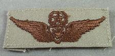 US Army Desert Tan Cloth Master Aircrew Badge - Wing