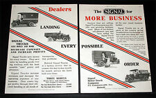 1914 OLD MAGAZINE PRINT AD, SIGNAL MOTOR TRUCKS, LANDING EVERY POSSIBLE ORDER!