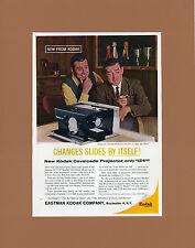 1959 KODAK CAVALCADE PROJECTOR Vintage Original Advertisement Archival Matting