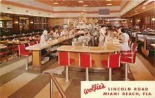 Interior Wolfie's Restaurant Miami Beach Florida Postcard Teich 1027