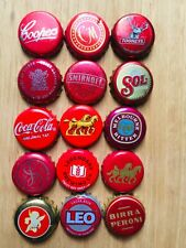 15 x RED Mixed Crown Seal Bottle Tops Caps