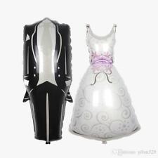 """90cm Super Shape """"Wedding Couple Suit Dress """" Foil Balloon Helium Celebration"""