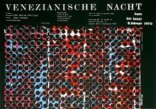 KARNEVAL - FASCHING - 1970 - Plakat / Poster - Venezianische Nacht - Holderied