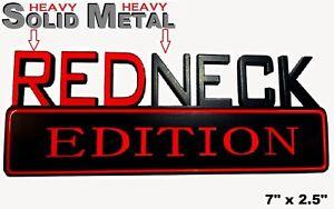 SOLID METAL Redneck Edition BEAUTIFUL EMBLEM Custom Ford Door Exterior Sign Logo