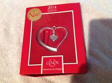 Lenox 2014 Our first Christmas Tree Ornament heart