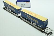 ROCO HO ÖBB  AAE 6achsiger Doppeltaschenwagen LKW Walter grau 75905 NEU OVP