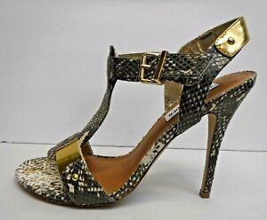 Steve Madden Size 8.5 Snake Sandals Heels New Womens Shoes
