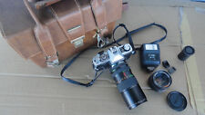 VINTAGE MINOLTA CAMERA BUNDLE - XG7,SUPER ALBINAR,ROKKOR-X,ROKUNAR FLASH * LOOK!