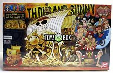 In STOCK Bandai One Piece Thousand Sunny Film Gold Commemorative Color Model Kit