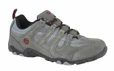 Mens Hi Tec Leather Real Suede Hiking Walking Trail Lace Up Trainers Shoes Size