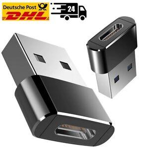 USB-A Stecker auf USB-C Stecker Adapter Konverter Buchse Laden Stick NEU