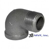 "1"" 150 NPT 90° Street Elbow Black Malleable Iron Pipe Fitting <MI100641BMI"