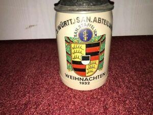 Alter Reservistenkrug Reichswehr Krug Württemberg Weihnacht 1932