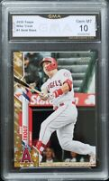 Mike Trout 2020 Topps Factory Sets #1 Gold Stars Parallel SP GMA 10 GEM MINT