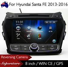 "8"" Car DVD Player Nav GPS Stereo Radio For Hyundai Santa FE 2013-2016"