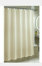 Excell Home Damask Stripe Beige Fabic Shower Curtain Liner NWT