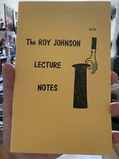 Vintage Roy Johnson Lecture Notes 1970 Booklet-Coin Magic - Card Magic