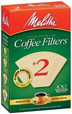 Melitta Super Premium #2 Cone Paper Coffee Filter Natural Brown, 100 Count