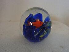Small Vintage Italy Murano Glass Aquarium Paperweight #BG