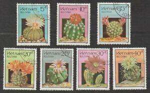 1987 Vietnam Stamps Various Flowering Cacti Scott # 1752-1758 Cto Never Hinged