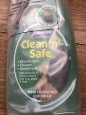 Clean 'n' Safe Small Animal Disinfectant Cleaner Deodorant, 500ml, BRAND NEW