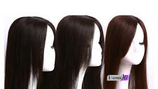 NewStraight Human Hair Seamless Hair Replacement Top Piece Hair Topper Hairpiece