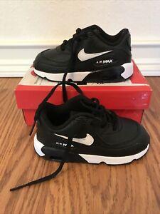 Nike Air Max 90 LTR BT (Toddler Size 8c) Athletic Sneaker Shoe Black Ans White