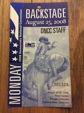 2008 Democratic National Convention BACKSTAGE DNCC STAFF Credential Barack Obama