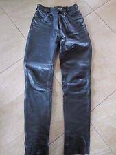Lederhose im Jeansstil / Leder-Motorradhose von MQP für Damen, Bundweite 33