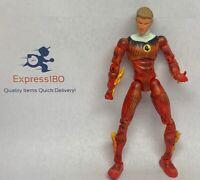 "(E4) Marvel Legend Human Torch 6"" Figure ToyBiz 2004 Fantastic Four Johnny"