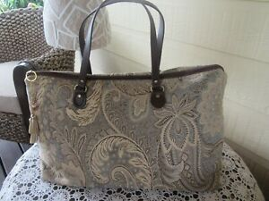 Women's Ladies Carry on Luggage Overnight Bag Weekender Chenille Tapestry Design