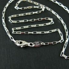 925 Sterling Silver Necklace Medium Box Chain 3mm (7.5 to 36'')  Wholesale Bulk