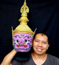 Mahiravan Mask Khon Thai Handmade Ramayana Home Art Decor Collectible Gift New