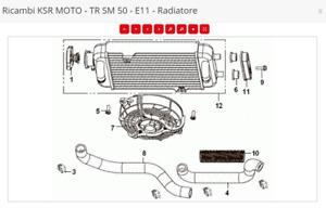 RICAMBI MALAGUTI XSM 50  radiatore-19-20-21 Original E11