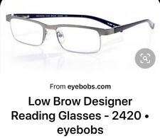Eyebobs Low Brow 2420 10 Silver Metal And Blue Arms