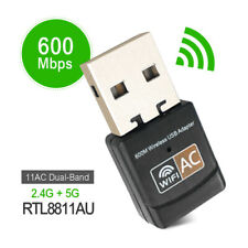 WiFi Adapter 600Mbps AC Wireless USB Ethernet PC Lan 802.11 Dual Band 2.4G/5G