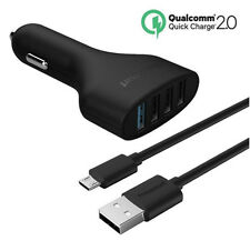 Car Fast Charger 4 Port Usb Power Au Plug Travel Ac Adapter Cable iPhone Samsung
