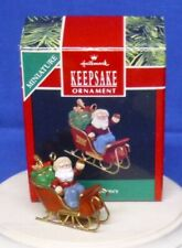 Hallmark Miniature Christmas Ornament Santa's Journey 1990 Sleigh Bag of Toys