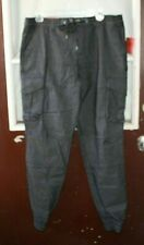 New Mossimo Joggers Pants Mens size M Black Gray Stretch  -TT#